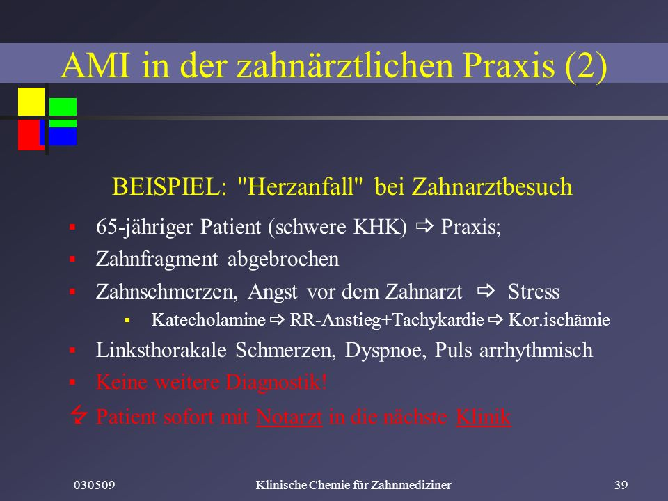 AMI in der zahnärztlichen Praxis (2)