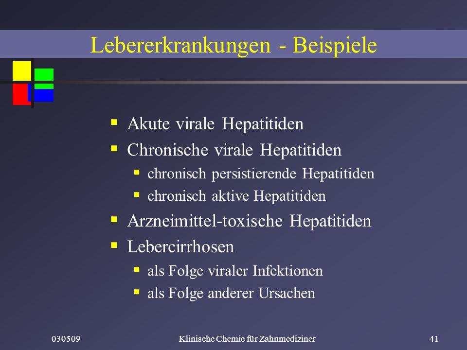 Lebererkrankungen - Beispiele