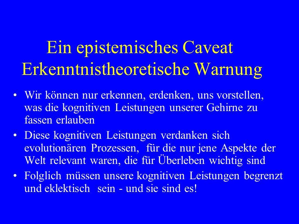Ein epistemisches Caveat Erkenntnistheoretische Warnung