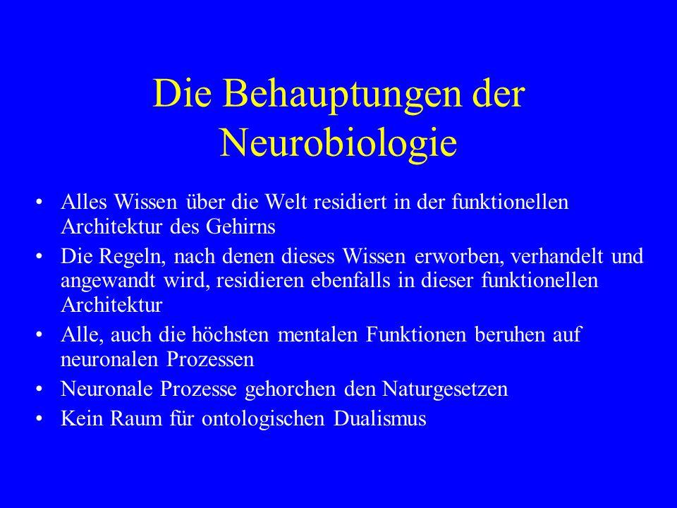 Die Behauptungen der Neurobiologie