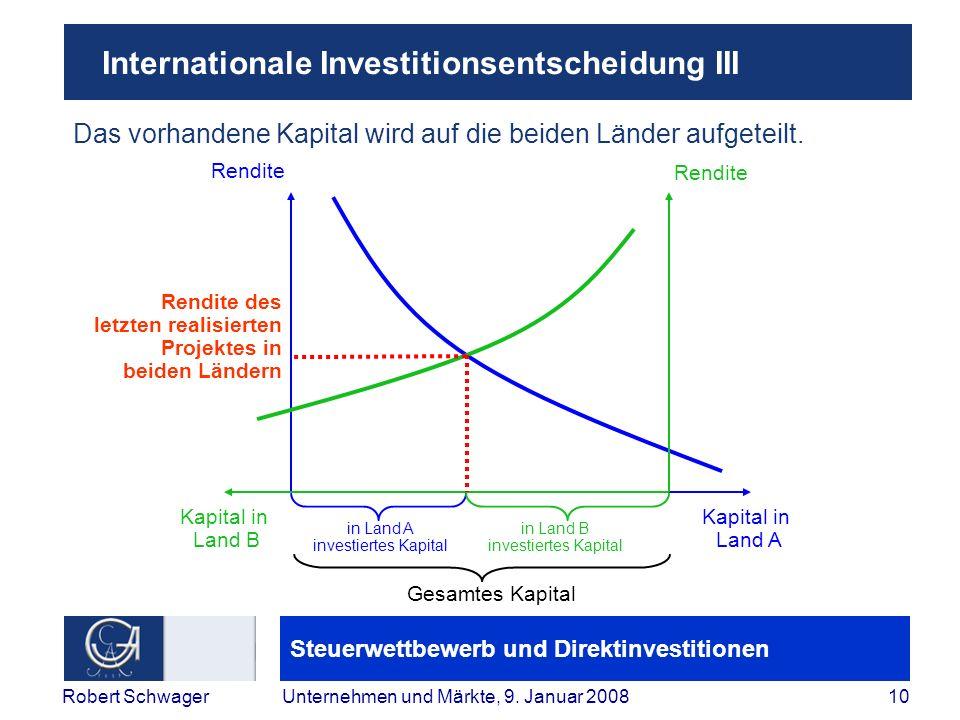 Internationale Investitionsentscheidung III