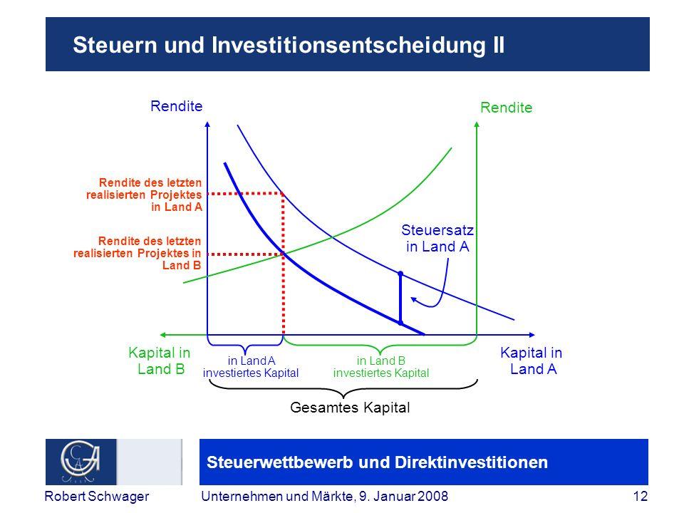 Steuern und Investitionsentscheidung II