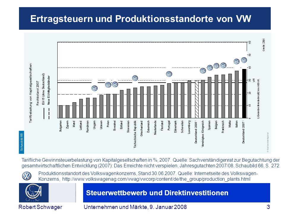 Ertragsteuern und Produktionsstandorte von VW