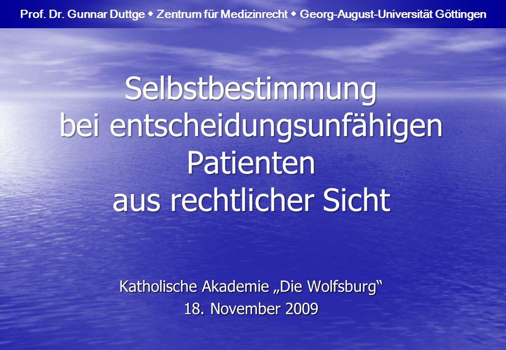 """Katholische Akademie """"Die Wolfsburg 18. November 2009"""