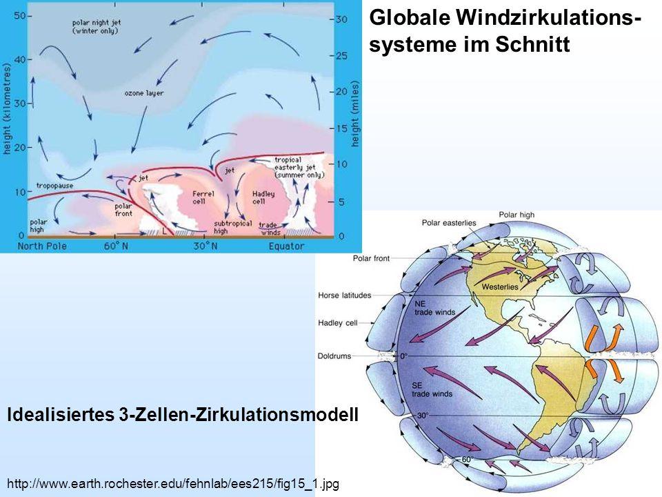 Globale Windzirkulations-systeme im Schnitt