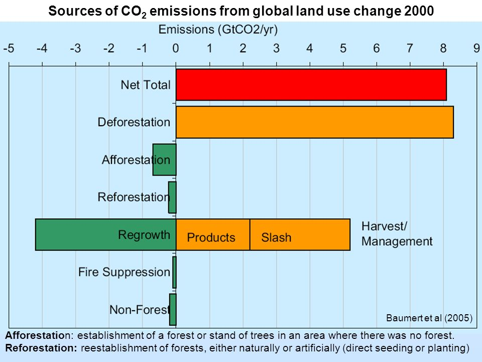 Sources of CO2 emissions from global land use change 2000