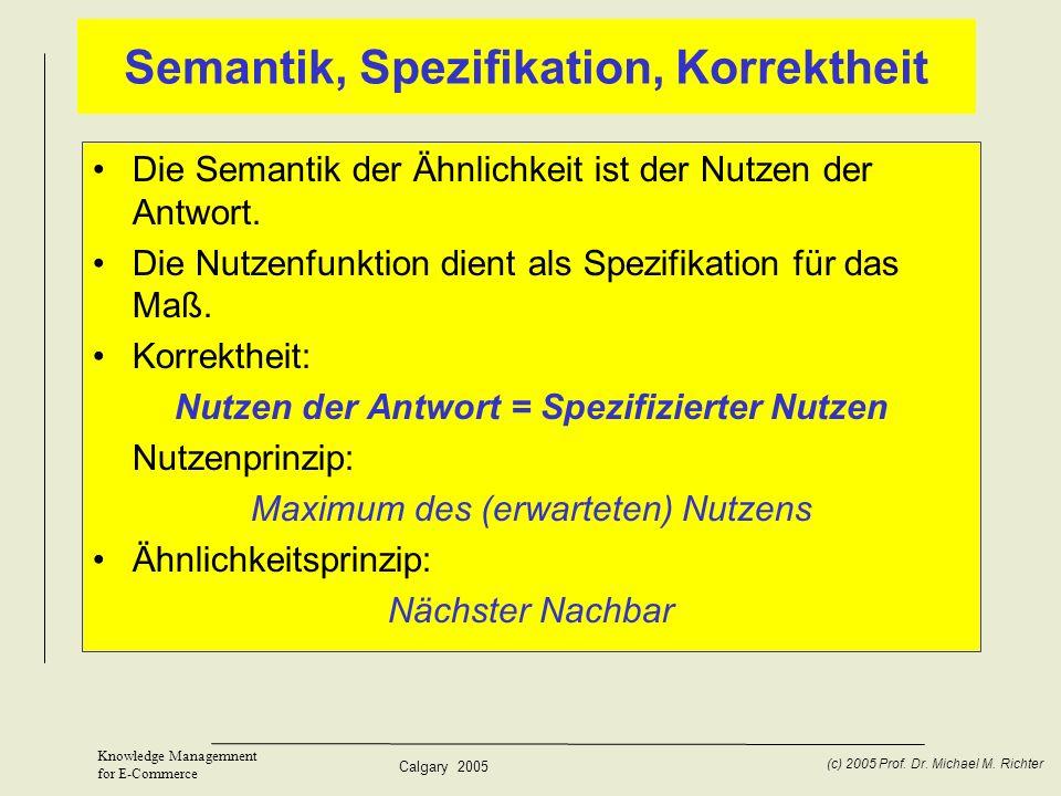 Semantik, Spezifikation, Korrektheit