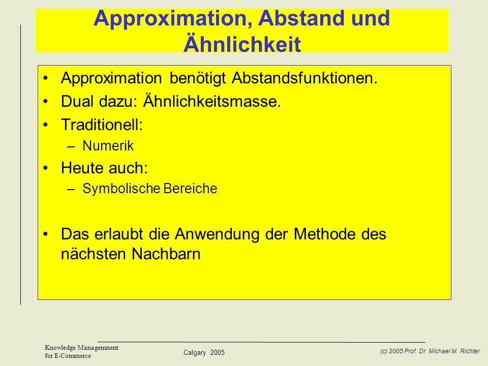 Approximation, Abstand und Ähnlichkeit