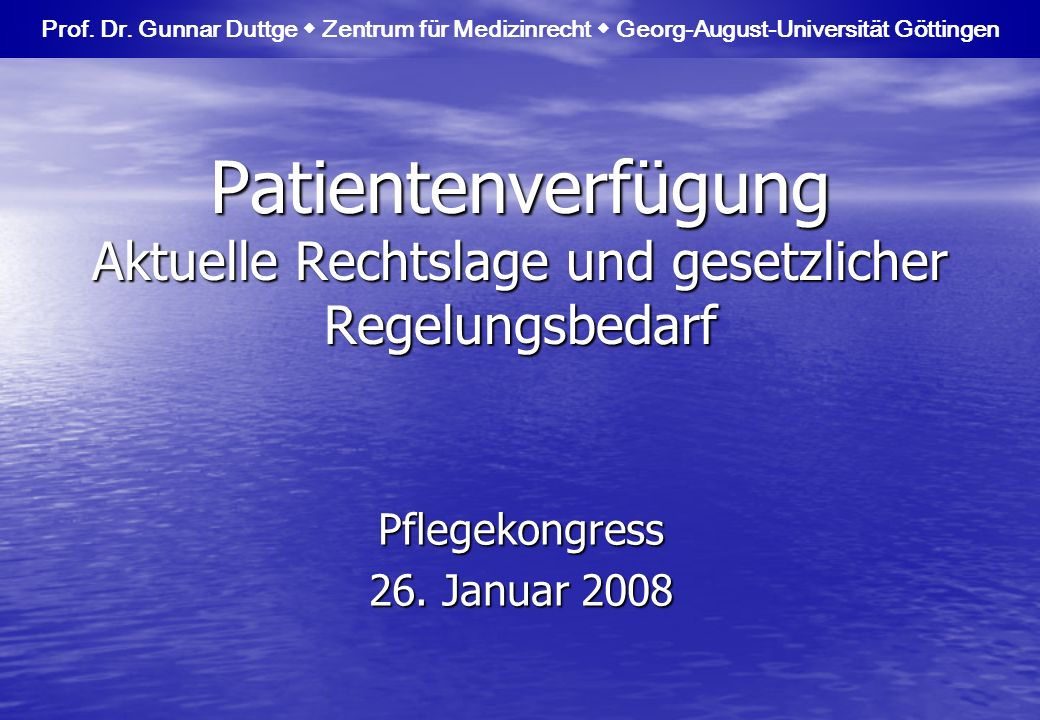 Pflegekongress 26. Januar 2008