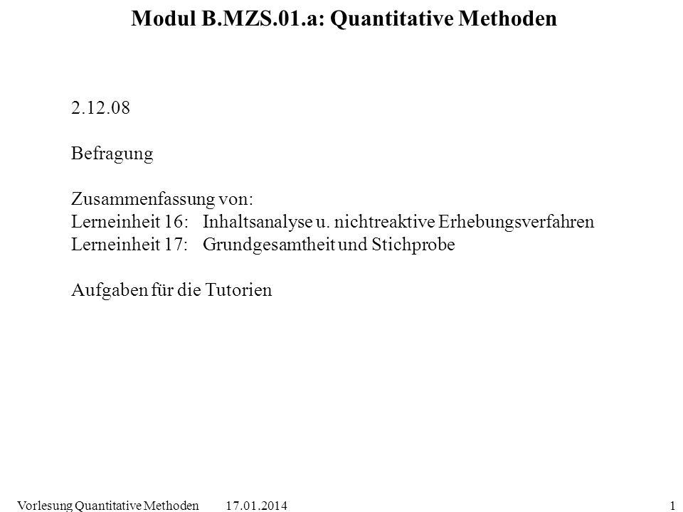 Modul B.MZS.01.a: Quantitative Methoden