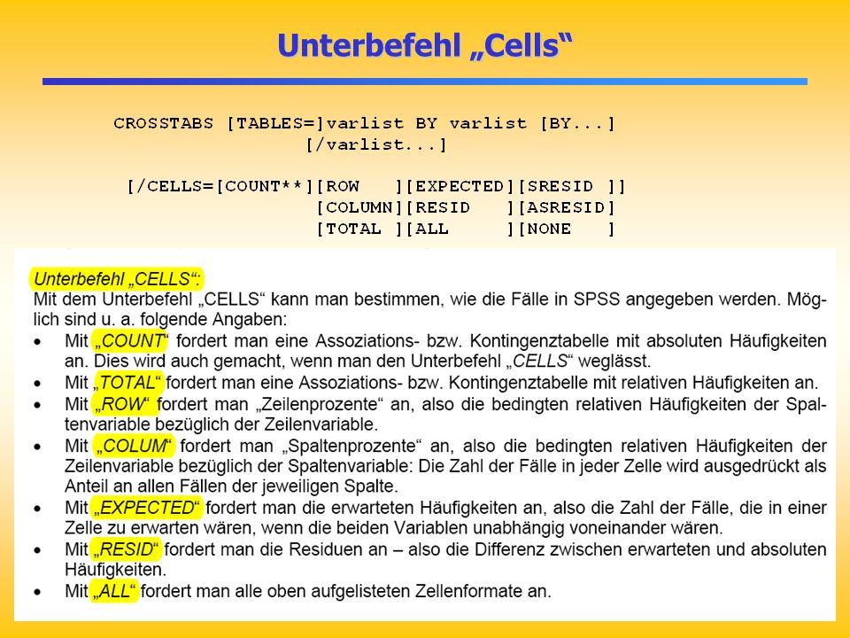 """Unterbefehl """"Cells"""