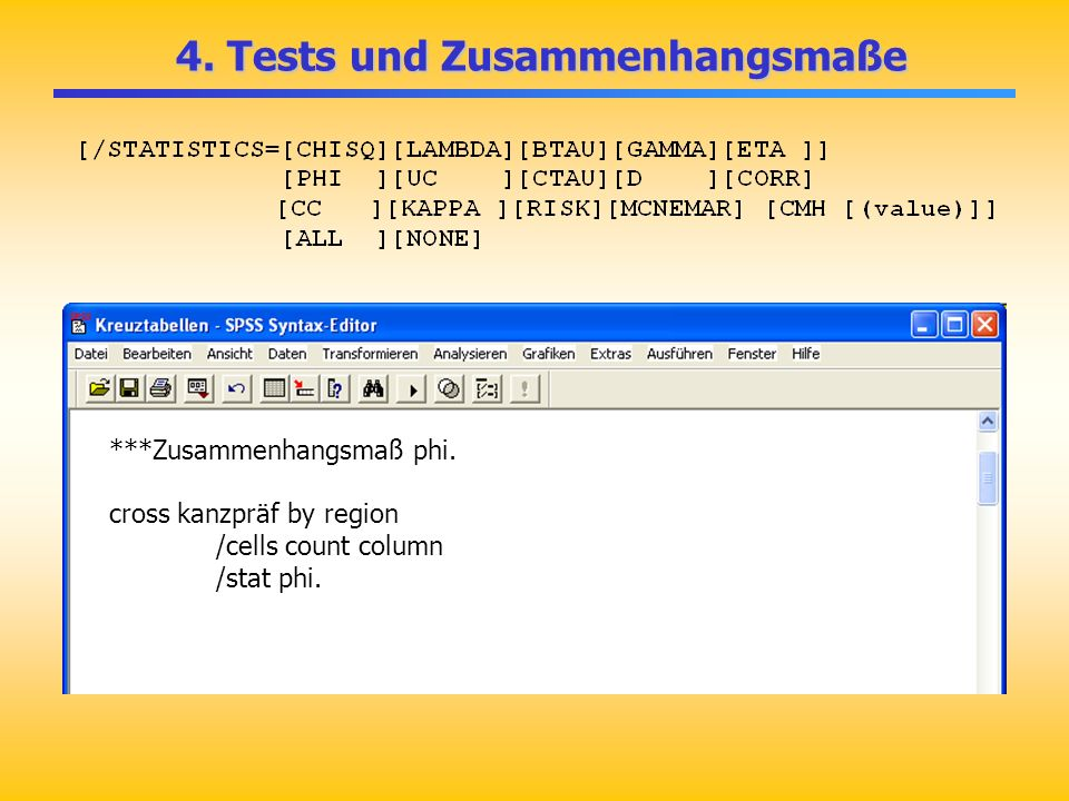 4. Tests und Zusammenhangsmaße