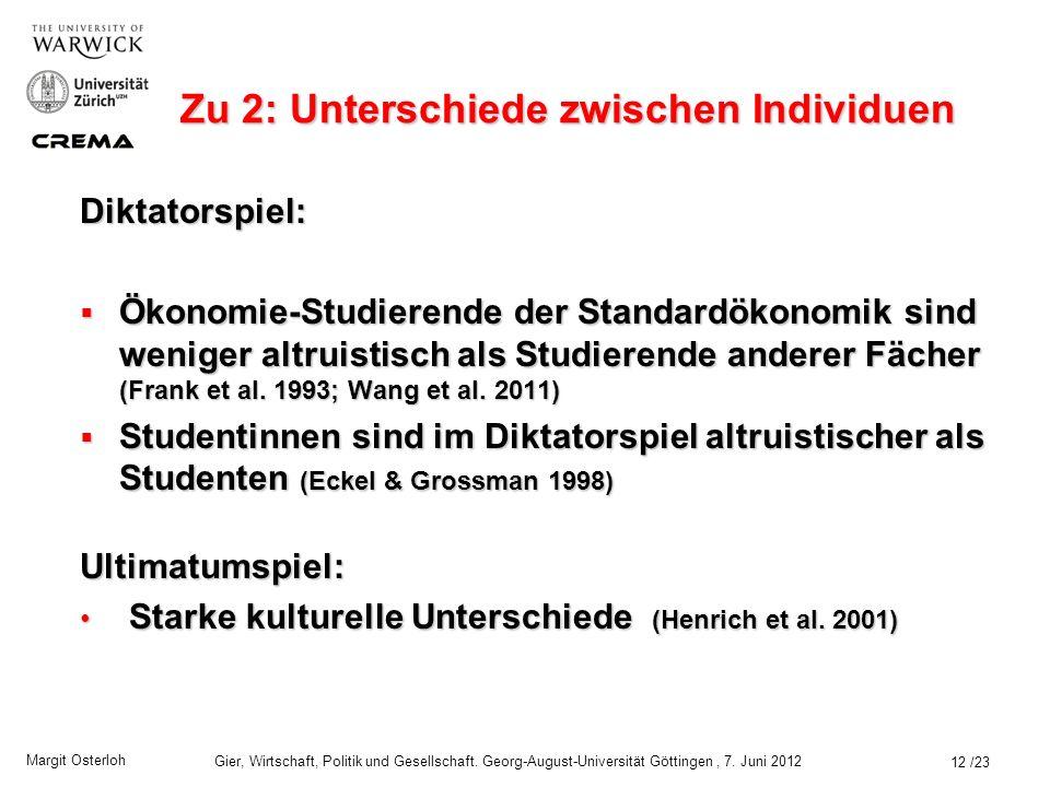 Zu 2: Unterschiede zwischen Individuen