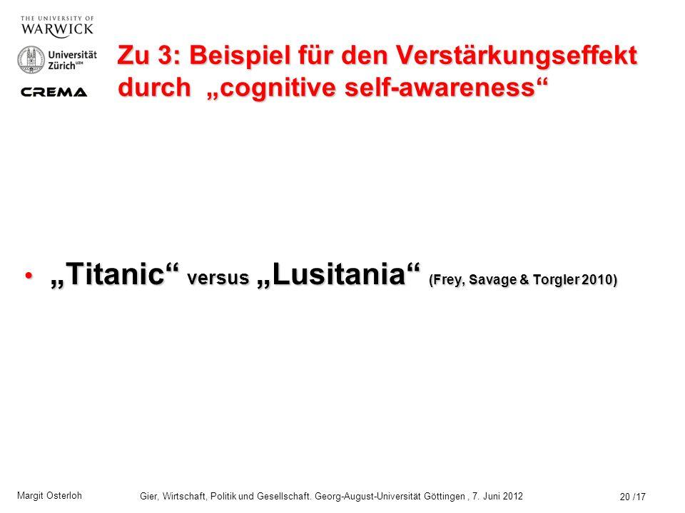 """Titanic versus ""Lusitania (Frey, Savage & Torgler 2010)"