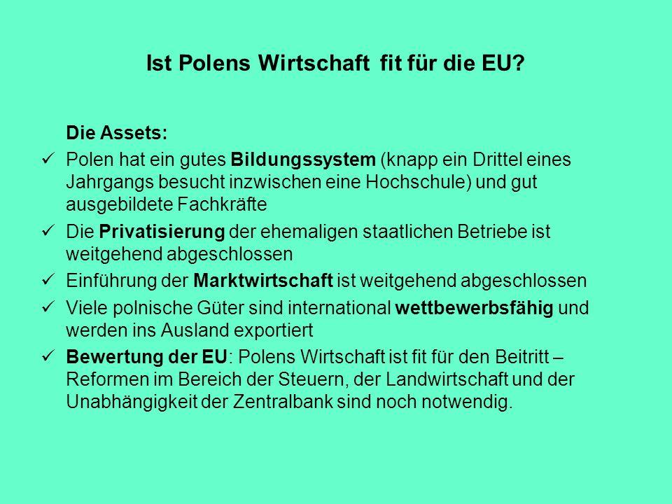 Ist Polens Wirtschaft fit für die EU