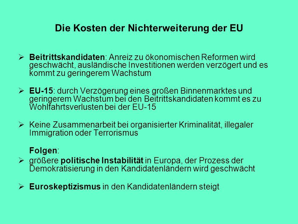 Die Kosten der Nichterweiterung der EU