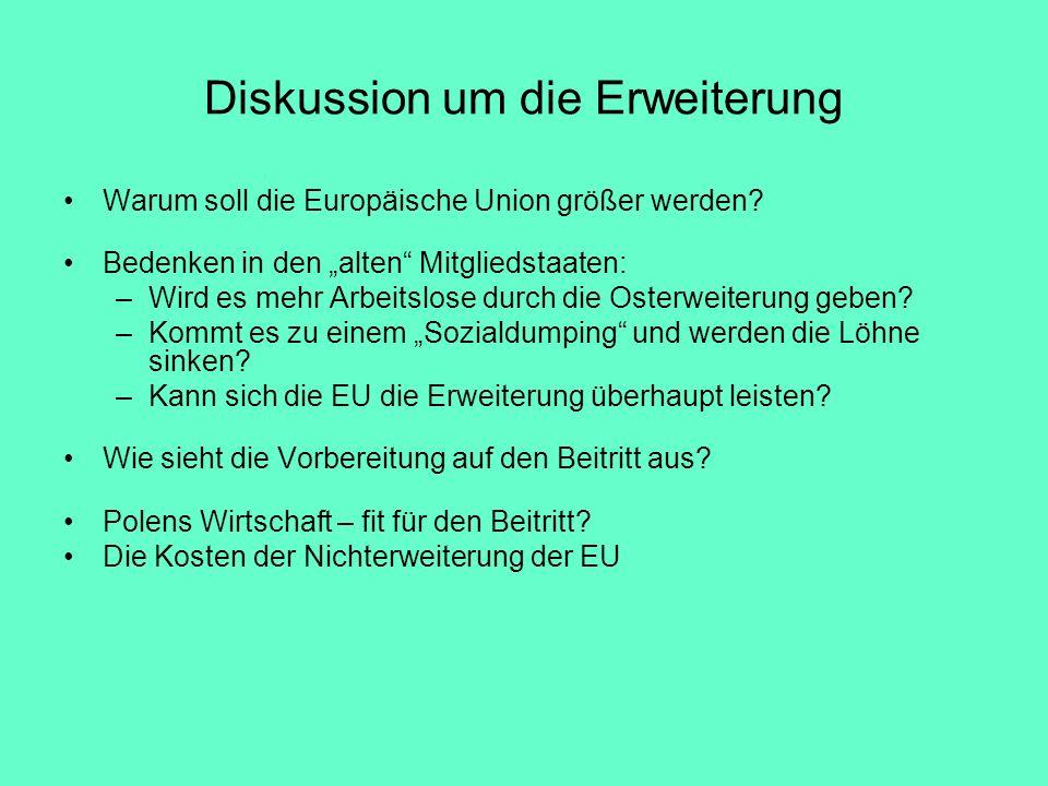 Diskussion um die Erweiterung