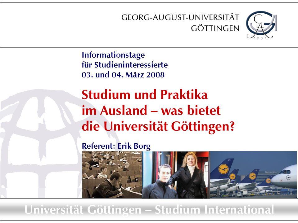 Informationstage für Studieninteressierte 03. und 04. März 2008