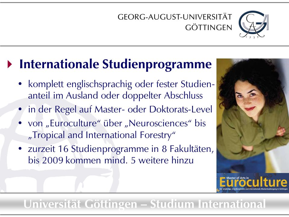  Internationale Studienprogramme
