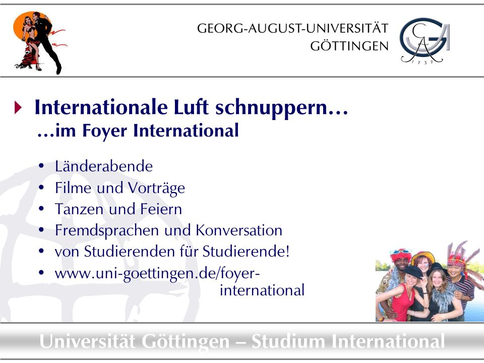  Internationale Luft schnuppern…