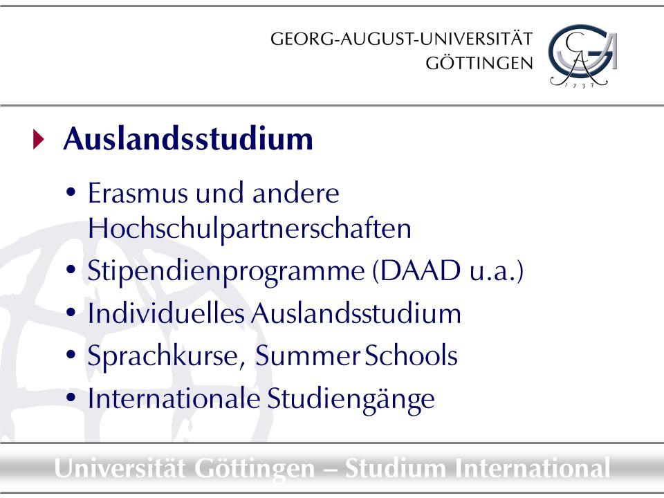  Auslandsstudium Erasmus und andere Hochschulpartnerschaften