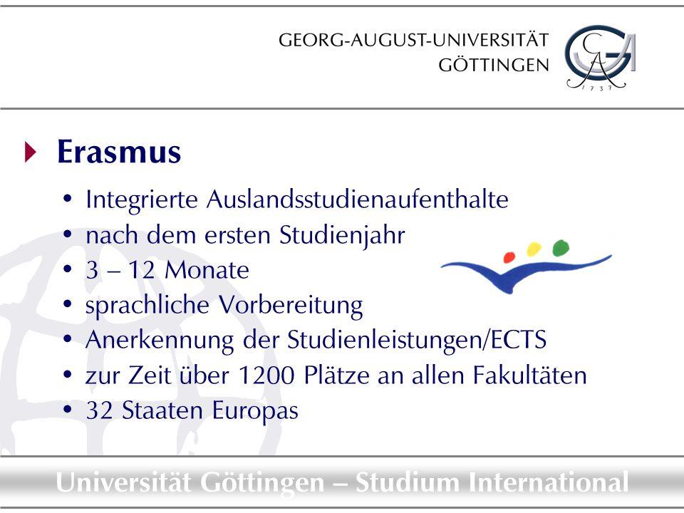  Erasmus Integrierte Auslandsstudienaufenthalte