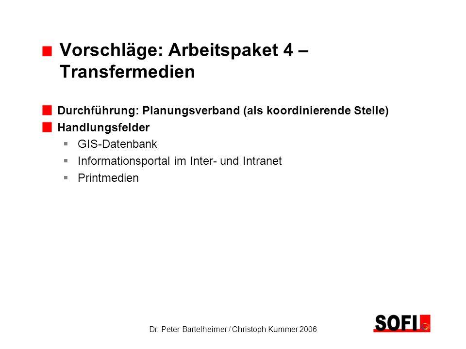 Vorschläge: Arbeitspaket 4 – Transfermedien