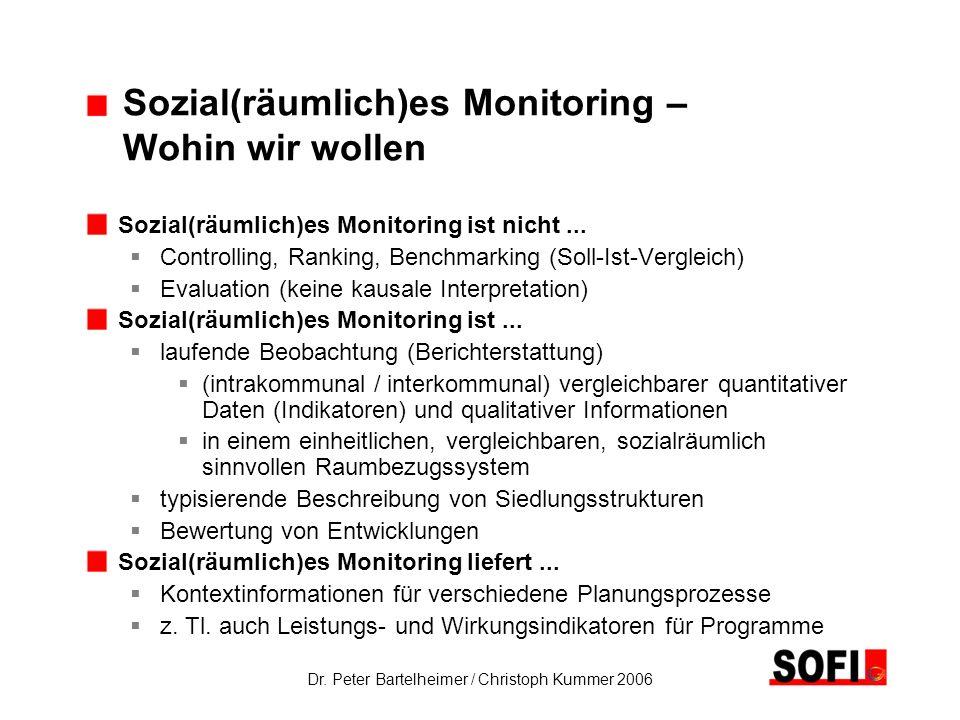 Sozial(räumlich)es Monitoring – Wohin wir wollen