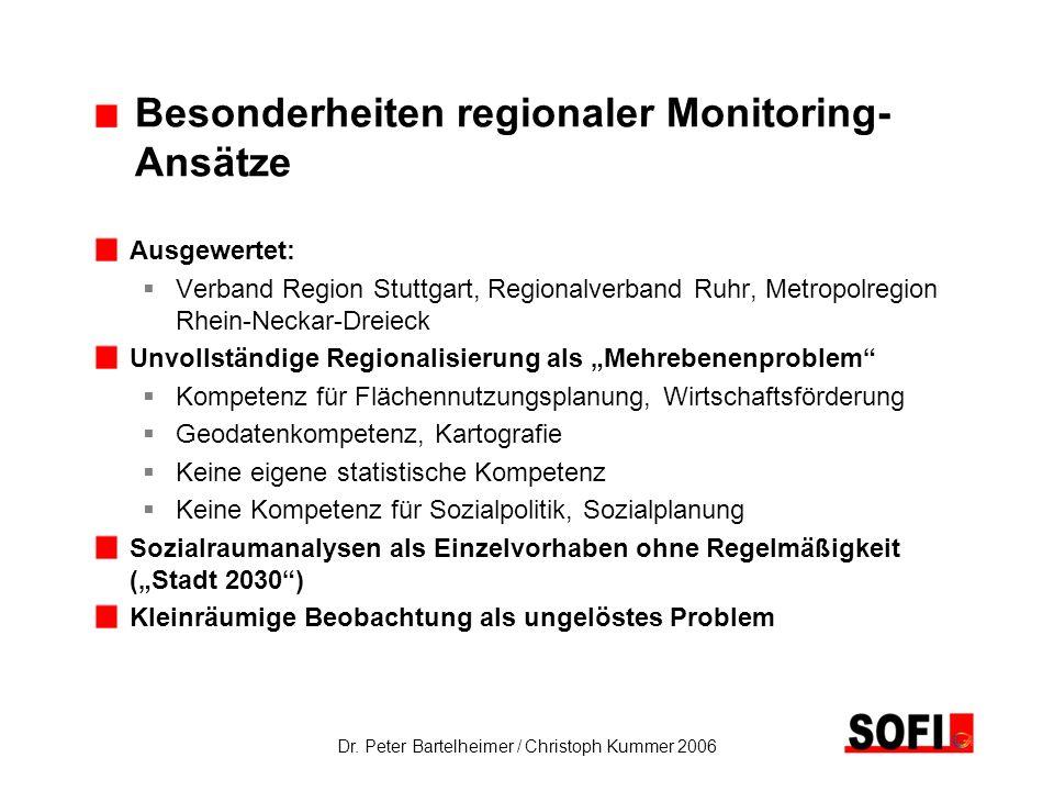 Besonderheiten regionaler Monitoring- Ansätze