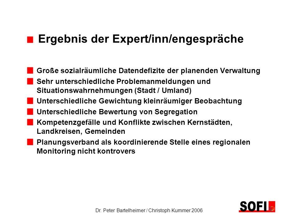 Ergebnis der Expert/inn/engespräche