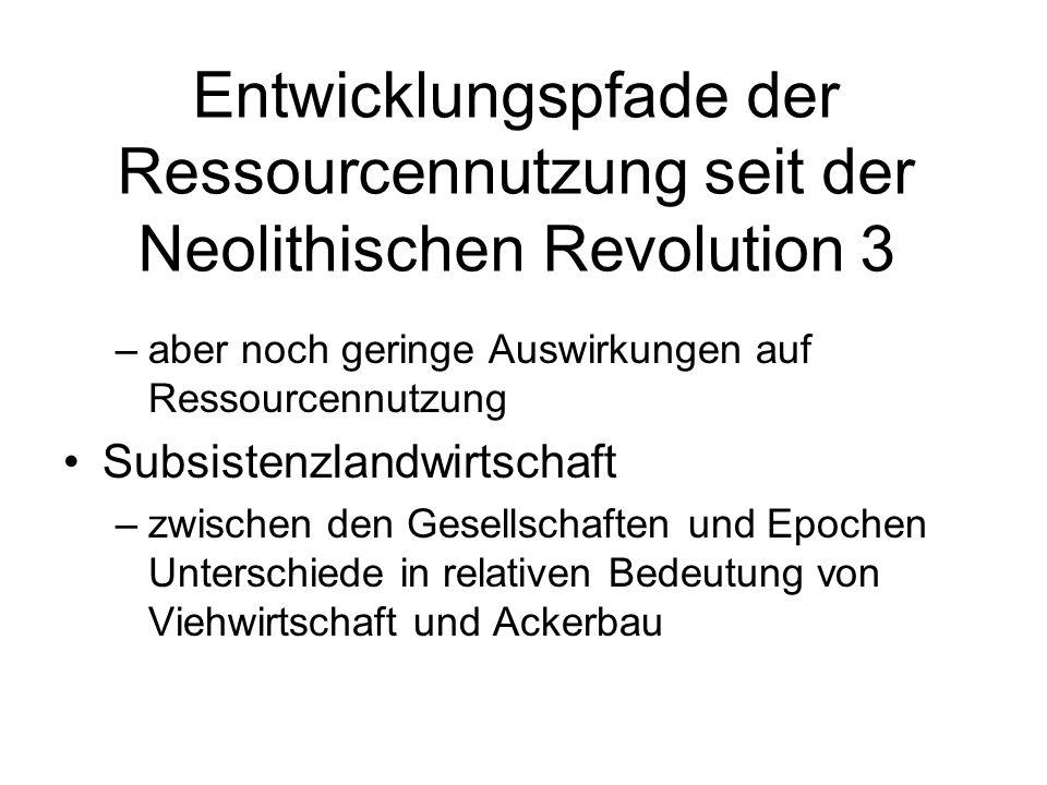 Entwicklungspfade der Ressourcennutzung seit der Neolithischen Revolution 3