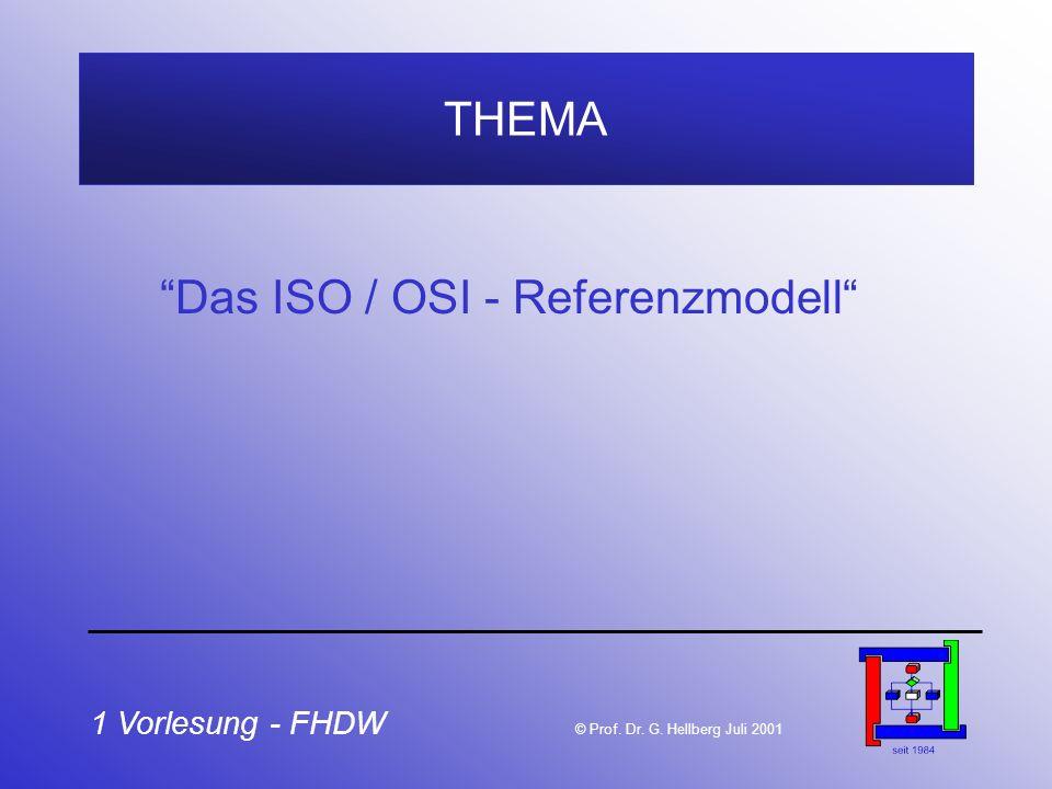 Das ISO / OSI - Referenzmodell