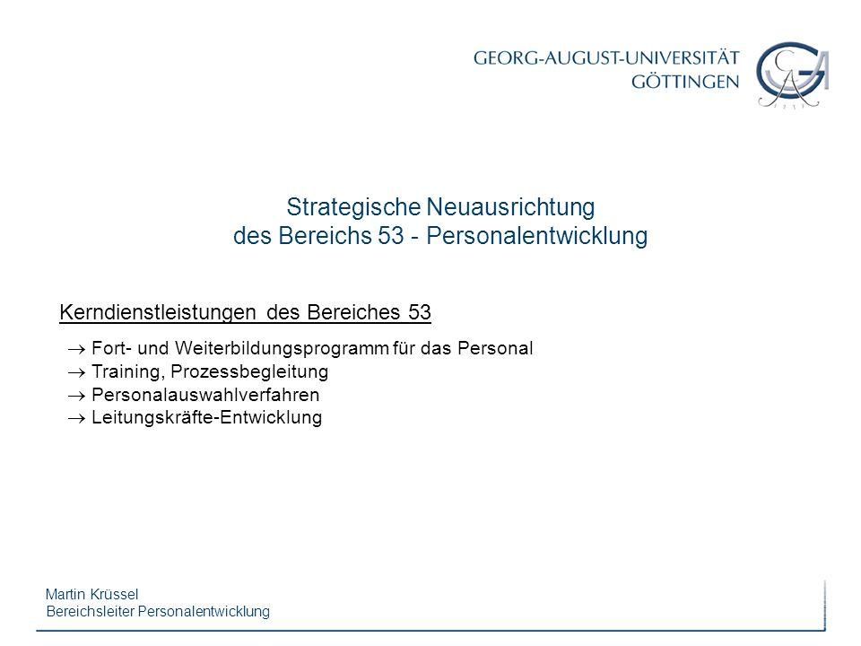Strategische Neuausrichtung des Bereichs 53 - Personalentwicklung