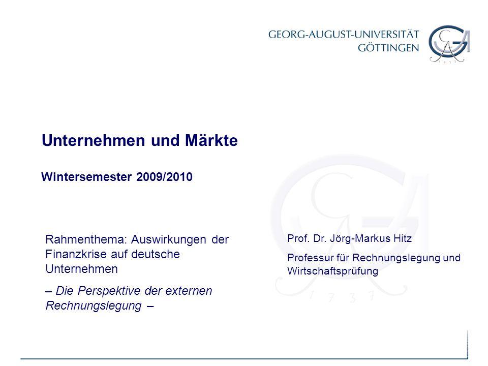Unternehmen und Märkte Wintersemester 2009/2010