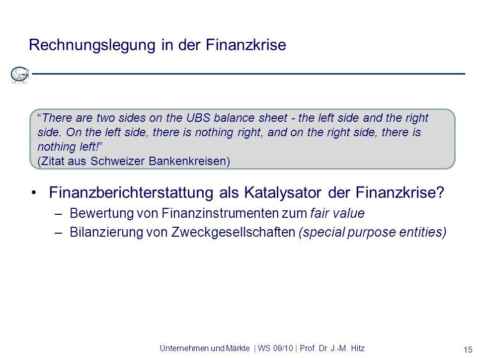 Rechnungslegung in der Finanzkrise