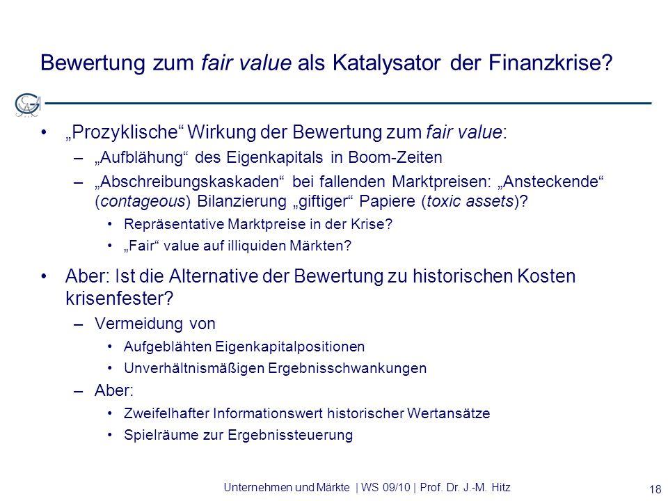 Bewertung zum fair value als Katalysator der Finanzkrise