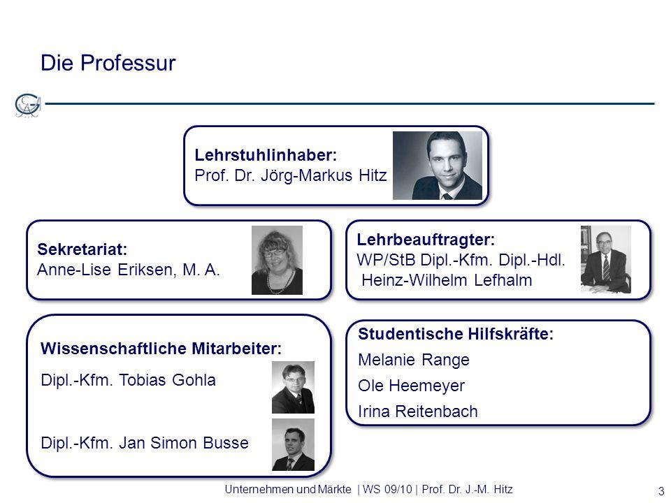 Die Professur Lehrstuhlinhaber: Prof. Dr. Jörg-Markus Hitz