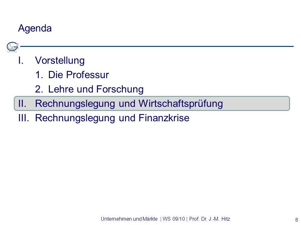Agenda Vorstellung. 1. Die Professur. 2. Lehre und Forschung. II. Rechnungslegung und Wirtschaftsprüfung.