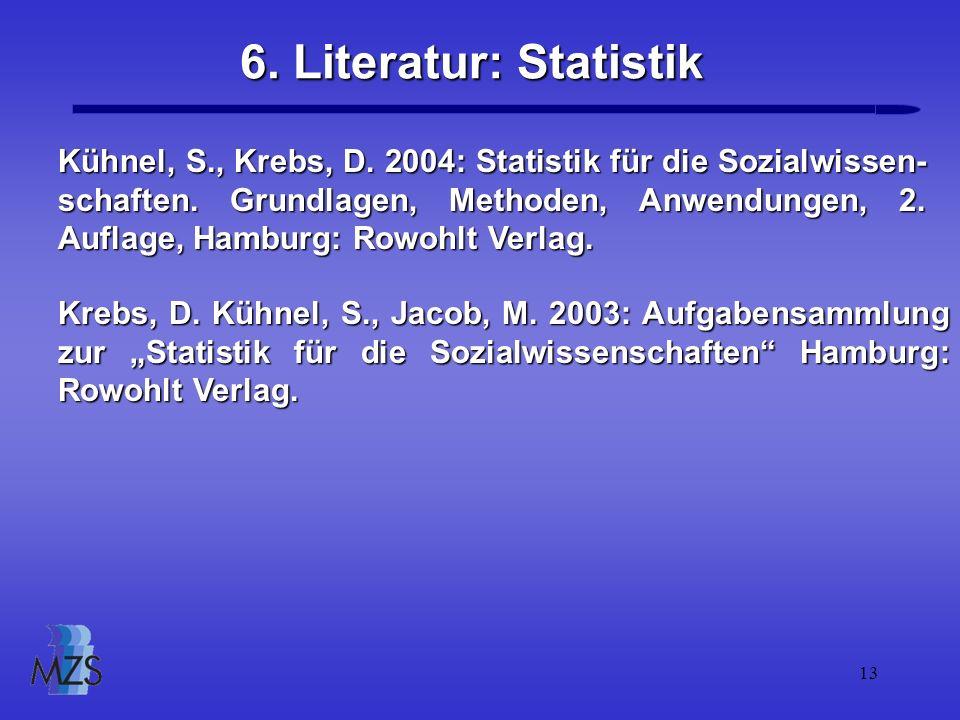 6. Literatur: Statistik