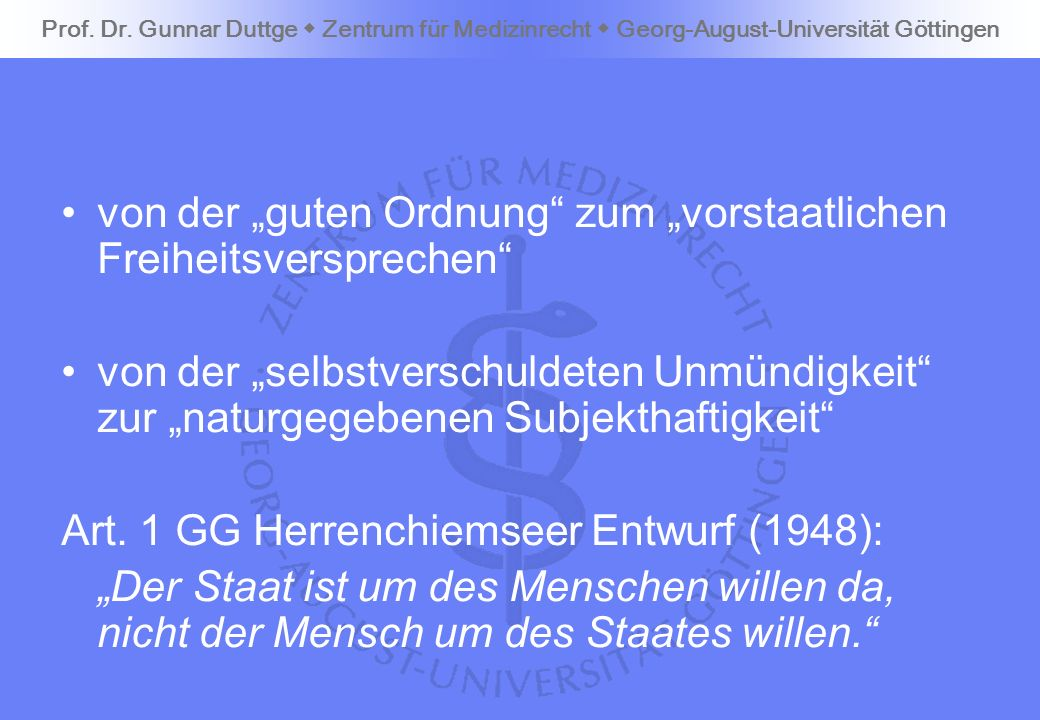"""von der """"guten Ordnung zum """"vorstaatlichen Freiheitsversprechen"""