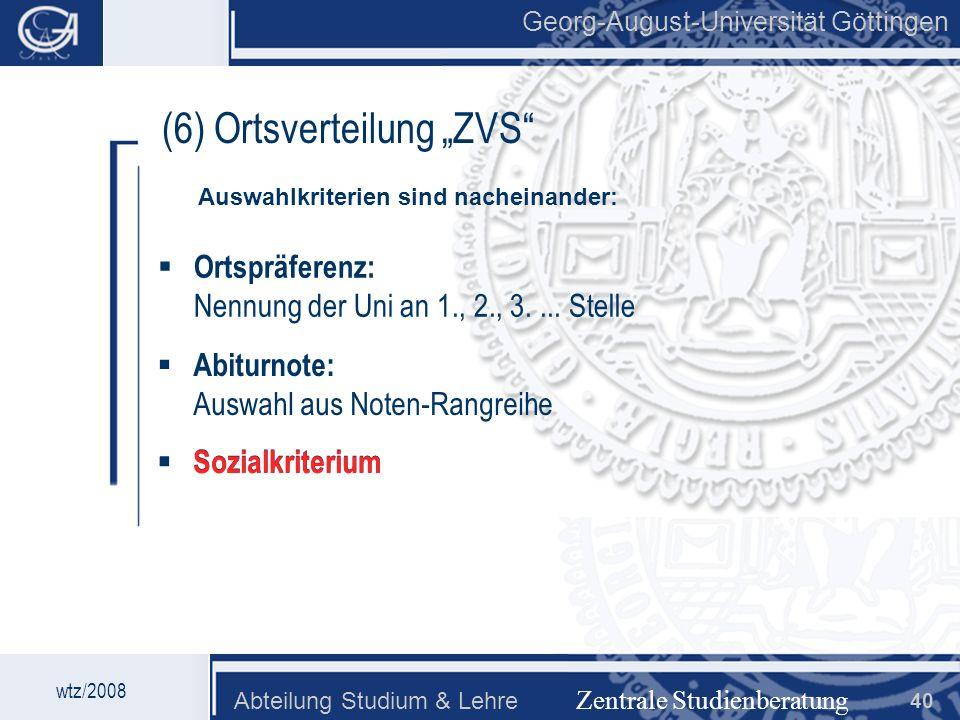 """(6) Ortsverteilung """"ZVS"""
