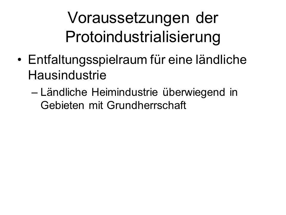 Voraussetzungen der Protoindustrialisierung