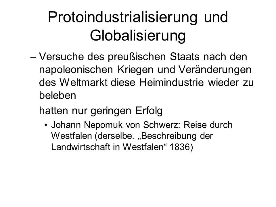Protoindustrialisierung und Globalisierung