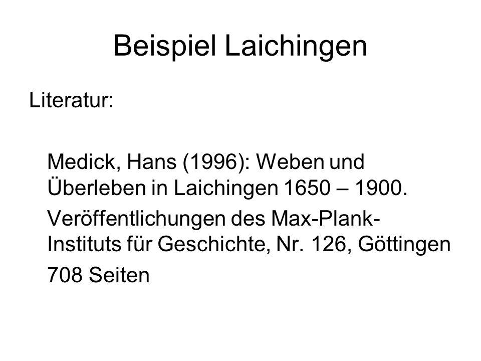 Beispiel Laichingen Literatur: