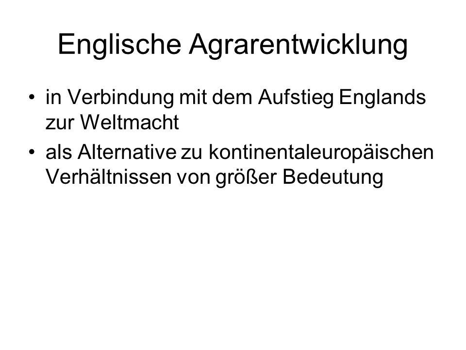 Englische Agrarentwicklung