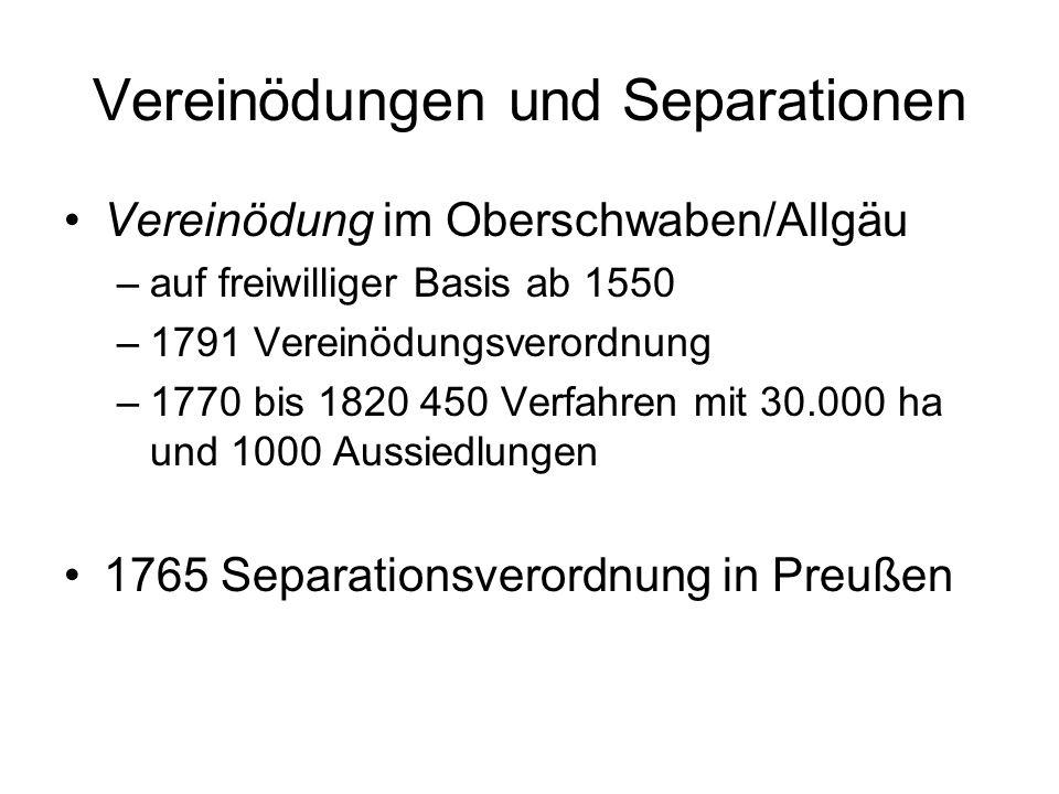 Vereinödungen und Separationen