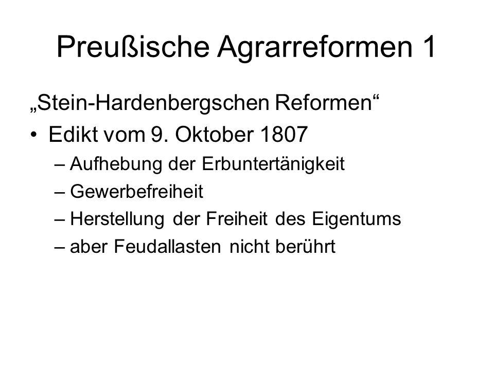 Preußische Agrarreformen 1