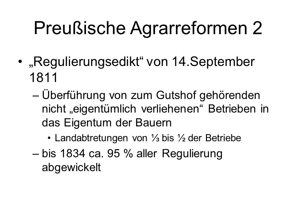 Preußische Agrarreformen 2
