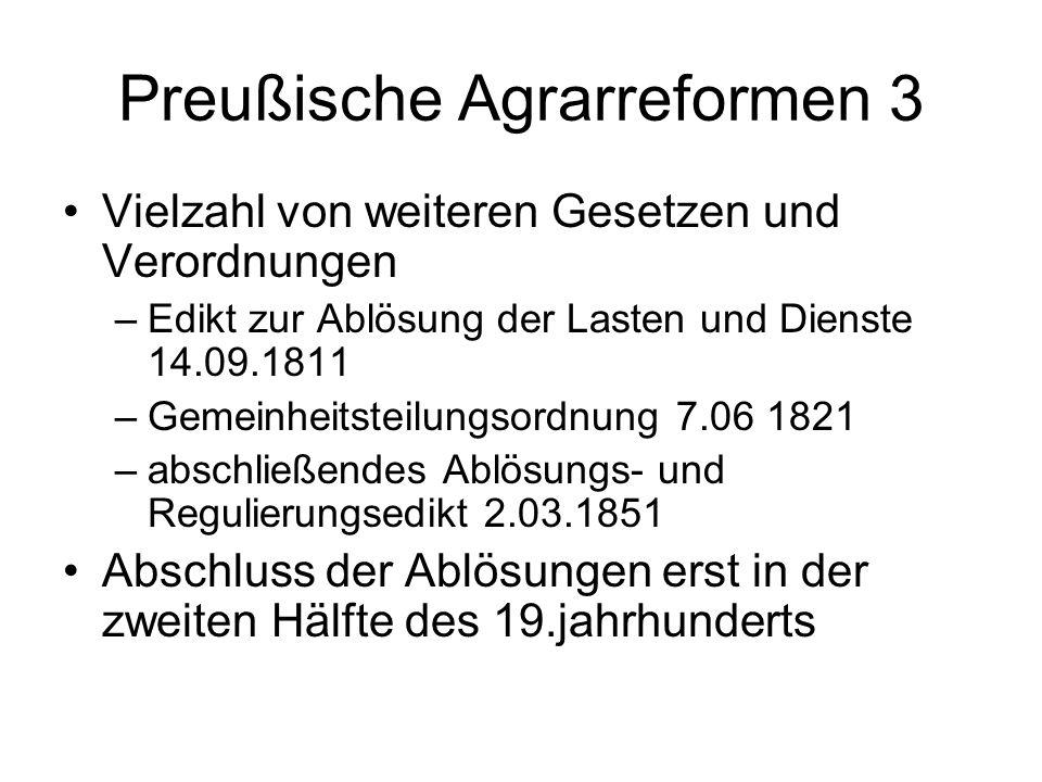Preußische Agrarreformen 3