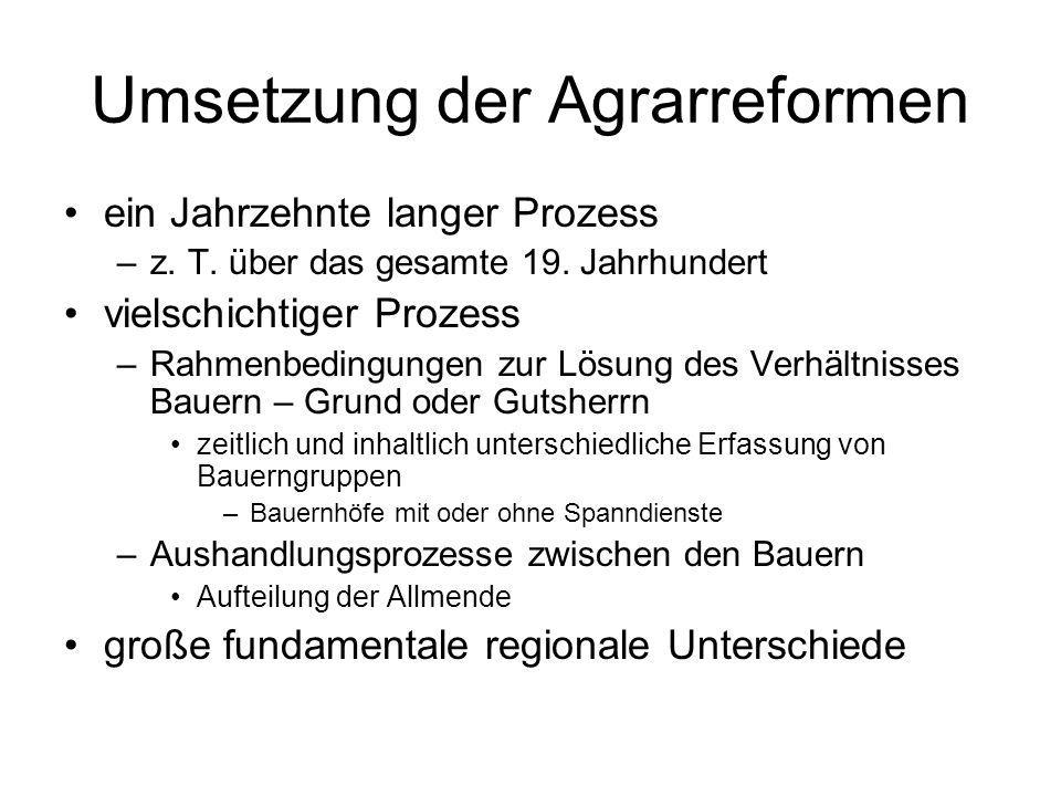Umsetzung der Agrarreformen